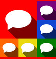 speech bubble icon set of icons with flat vector image vector image
