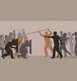 street riot vector image vector image