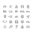 Transportation Outline Icon Set vector image vector image