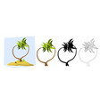 tropical palm trees a palm tree vector image vector image