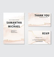 watercolor wedding invitation set elegant gold vector image