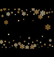 winter snowflakes and circles backdrop vector image