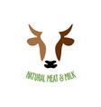 Cow head logo vector image