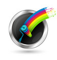 paint roller in a circle symbol vector image