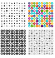 100 sweets icons set variant vector image vector image