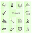 14 celebrate icons vector image vector image