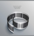 3d film strip design for camera vector image vector image
