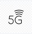 5g internet network generation icon vector image