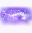 abstract purple background with glitter golden vector image