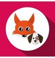 Animal face design cartoon icon vector image