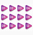 arrow bullet point triangle flags with colorful vector image