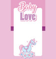 baby love card cartoons vector image