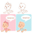 baby shower set vector image vector image