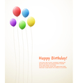 balloons birthday card vector image