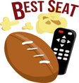 Best Seat vector image vector image