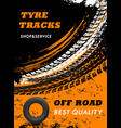 car off road tyres shop and service poster vector image