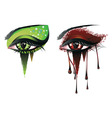 Carnival Vampire Eyes vector image