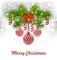 Christmas Glowing Greeting Background vector image vector image