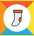 christmas sock icon colored line symbol premium vector image