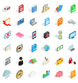 copy icons set isometric style vector image vector image