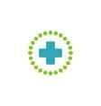 cross health care logo template design vector image vector image