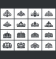 crowns collection of shapes vector image