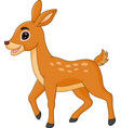 cute deer cartoon vector image