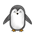 cute scribble penguin cartoon