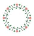 decorative fl vector image