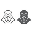 dracula line and glyph icon halloween and evil vector image vector image