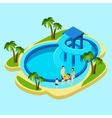 Family At Water Park vector image