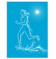 Female runner on water vector | Price: 1 Credit (USD $1)