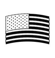 flag united states of america wave in design black vector image vector image