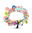 floral magic tree sketch for your design vector image
