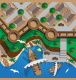 fortress with a berth for ships vector image vector image
