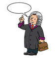 funny judge with balloon for text vector image