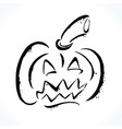 hand drawn jack-o-lantern on white background vector image