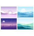 hills and mountains vector image vector image