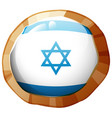 israel flag on round frame vector image