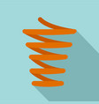 jump coil icon flat style vector image vector image