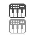 keyboard midi controller simple icon design vector image