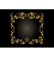 Luxury gold square frame with decor of spirals vector image vector image