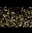 magic gold star background vector image vector image