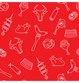 Meat seamless pattern with elements of sausage a vector image