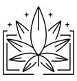 medical marijuana leaf logo outline style vector image vector image