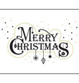 merry christmas stylized message banner with stars vector image