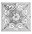 moorish square panel is a 14th century design vector image vector image