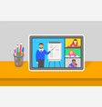 online education virtual class teleconference vector image vector image