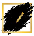 pencil sign golden icon at vector image vector image