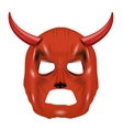 Red Horn Mask Isolated on White vector image vector image